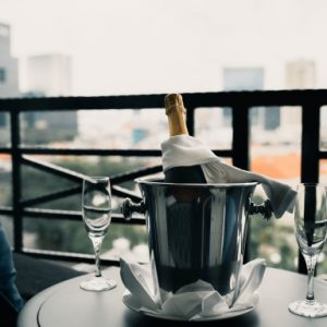 Champagne in Singapore Hotel Room